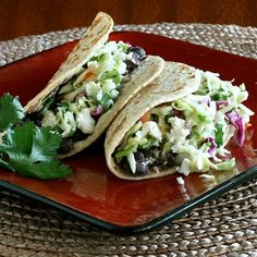 Have Recipes-Will Cook: Black Bean Tacos with Cilantro Slaw