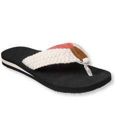 Women's Maine Isle Flip-Flops, Woven in Cream: Sandals and Water Shoes | Free Shipping at L.L.Bean