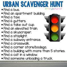 Urban Scavenger Hunt #scavengerhunt #urbankids
