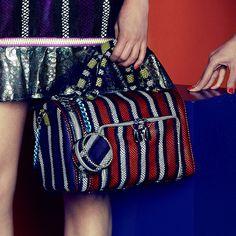 House Of Holland red stripe handbag. www.handbag.com
