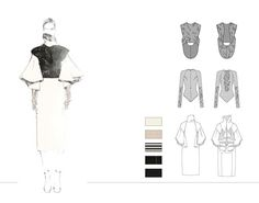 Fashion Sketchbook - fashion illustration & technical fashion drawings; fashion portfolio // Aile Hua