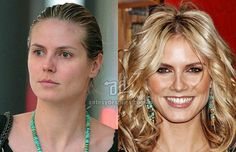 Photos of top model Heidi Klum without makeup Adriana Lima Without Makeup, Models Without Makeup, Heidi Klum Model, Becoming An American Citizen, Makeup Before And After, Photoshop, Celebs, Celebrities, Business Women