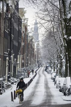 Snow in Amsterdam, 15th of January 2013