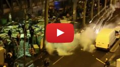 """Paris looks like a War-zone .1,000 migrants, set up camp there in early March after the demolition of the Calais """"Jungle"""" camp."""