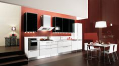 Diamante is a kitchen that explores the latest trends in design and is beautifully characterized by a glass door with a metal edge (and with decorative slats, if desired).  With its futuristic elegance, Diamante was developed to meet modern functional requirements with a project that's as beautiful as it is versatile.