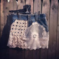 Hey, I found this really awesome Etsy listing at https://www.etsy.com/au/listing/204718283/custom-jean-vintage-doilies-skirt-up