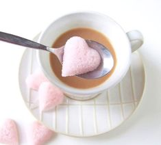 Easy, cute Valentine's Day heart sugar cubes are great for the tea and coffee drinkers in your life