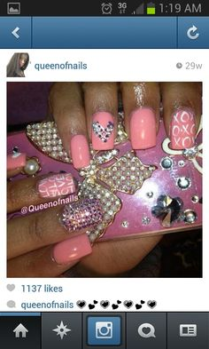 Love the color and nail art