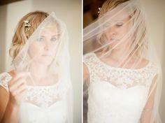 Bride | Wedding Dress and Veil | | Fine Art Wedding Photography by Kerry Bartlett | Somerset Photographer | Sopley Mill | Bournemouth
