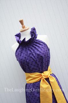 NEW...Royalty...Women's Purple Dress with by TheLaughingGiraffe, $69.00 (LSU Dress!)