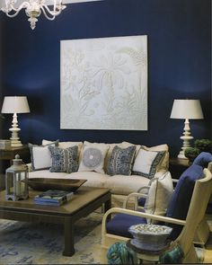 Phoebe Howard || Dark Navy Blue Walls