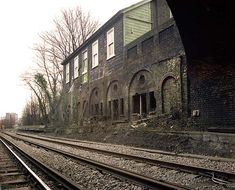 Lewisham Road Station (no longer in use) in London, UK. We used to walk by here on our way to Sainsbury's!