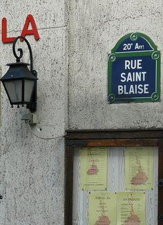 La rue Saint-Blaise (Paris 20ème).