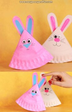Get crafty this spring for less with these dollar store easter crafts. From DIY Easter decorations to easy easter crafts for kids, there are plenty of fun craft ideas to choose from. Easy Easter Crafts, Spring Crafts For Kids, Easter Art, Bunny Crafts, Paper Crafts For Kids, Art For Kids, Easter Bunny, Easter Decor, Craft With Paper Plates