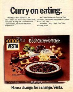Magazine Advert Vesta 1970s