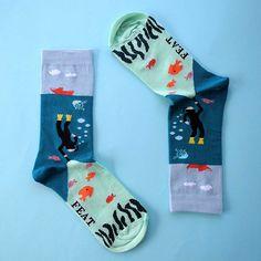 Feat. Socks UNDERSEA SOCK :)   socks+sea+diving+fish+hosiery+fancy socks+marine biology+ocean