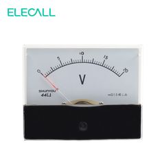 ELECALL Pointer 44L1-20V 0~20V AC Analog Mechanical Voltage Meter Panel Volt Meter #Affiliate
