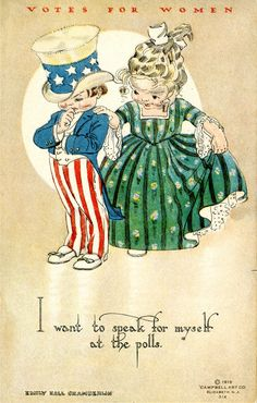 Another postcard created by the National Woman Suffrage Publishing Co. and circulated on behalf of National Woman Suffrage Association (NAWSA). University Of Northern Iowa, Suffrage Movement, Vintage Valentines, Women In History, Vintage Postcards, Vintage Cards, Vintage Images, Vintage Ladies, Suffragettes