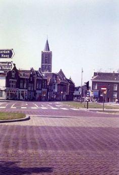 Fotocollectie, Lange Kerkstraat, Broersvest, Centrum, Siljee, Y., ja, Gemeentearchief Schiedam, 19710101, 19711231, Gezicht vanaf de Broersvest op de Lange Kerkstraat., Foto