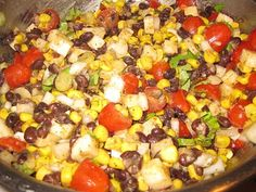 black bean-corn-jicama salad from the full plate blog/meals in a snap