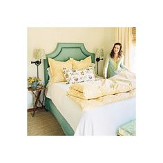inspiring interiors / yellow and teal bedroom found on Polyvore
