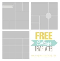 Free Photo Collage Templates from www.simpleasthatblog.com #photoshop #memorykeeping #photos