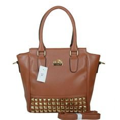 #HighQualityCoach Want it. It can save 50% now on the site. Coach Legacy Tanner In Studded Small Brown Crossbody Bags BNN!
