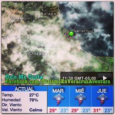 Prevé PC lluvias intensas en todo el estado de #Veracruz de martes a jueves  http://www.facebook.com/TurismoEnVeracruzAventura #megusta #clima #weather
