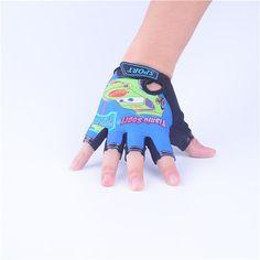 LongKeeper Sport Gloves For Kids Semi-finger Children Mittens Cotton Car Pattern Boys Girls fingerless Gloves for Outdoor Sport