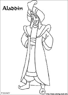 38 Best Aladdin images in 2019 | Disney Coloring Pages, Coloring