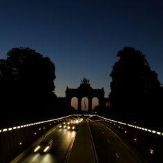Cinquantenaire - Jubelpark © _Wim_ Dark Night, Brooklyn Bridge, Travel Belgium, Explore, Brussels, Pictures, Spirit, Magic, Historia