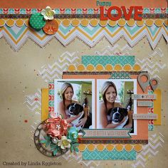 "Lou's World: Fancy Pants ""True Friend"" for All About Scrapbooks / My Scraps & More sketch #93"
