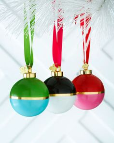 Colorblock ball Christmas Ornaments by Kate Spade http://rstyle.me/n/s5xcrnyg6