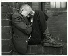 Chris Killip 'Youth on Wall, Jarrow, Tyneside', 1976 (Deutsche Borse Photography… Henri Cartier Bresson, Martin Parr, Robert Frank, White Photography, Street Photography, Portrait Photography, Photography Ideas, Social Photography, Museum Photography