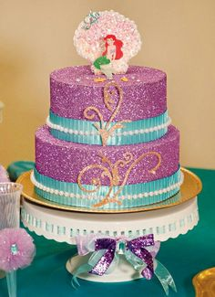 Sparkly Little Mermaid Under the Sea Birthday Party // Hostess ...