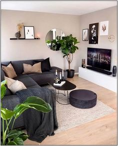 Magnificient Living Room Colors ideas that inspire your apartment decor # apar . Magnificient Living Room Colors ideas that inspire your apartment decor # apartment Over 40 ideas for a coz. Living Room Grey, Living Room Sets, Rugs In Living Room, Home And Living, Modern Small Living Room, Living Area, Barn Living, Small Bedroom With Couch, Living Room Ideas With Grey Couch