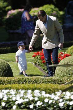 Prince Daniel came after the little botanist Oscar at Solliden, July 14, 2017
