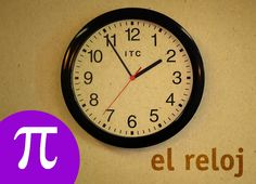 El reloj Spanish, Clock, Videos, Youtube, Maths Area, Digital Watch, English Class, 1st Grades, Learning