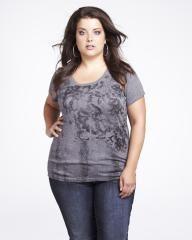 floral lace print t-shirt   Shop Online at Addition Elle