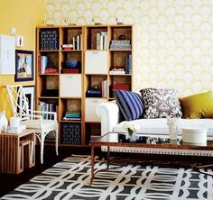 Small space idea: How to create a stylish workspace in your living room.
