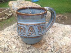 Dad Mug Custom Mug Cup Pottery Ceramics by NorthernWoodsStudio, $25.00