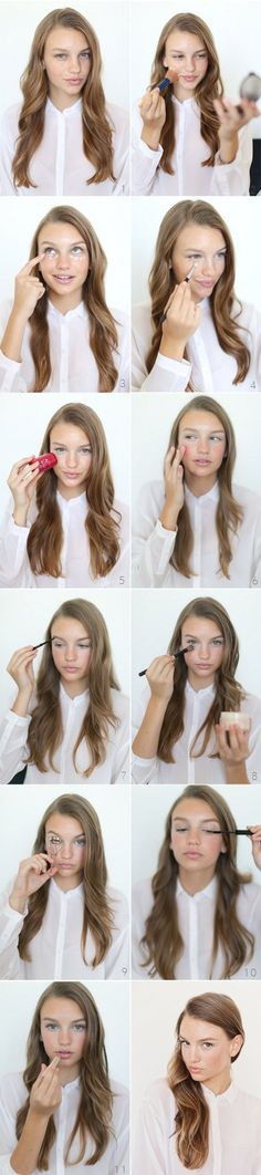 How to Do Easy Makeup for Work | Natural Look by Makeup Tutorials at  | Makeup Tutorials http://makeuptutorials.com/10-minute-makeup-tutorials-for-work