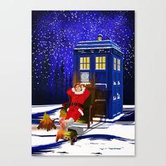 10th Doctor who Relax before Christmas CANVAS PRINT #Canvasprint #artprint #artdesign #digitalart #digital #drawing #painting #digital #ink #watercolor #comic #illustration #popart #christmas #newyear #tardisdoctorwho #doctorwho #tardis #timelord #badwolf #drwho #timetravel #starrynight