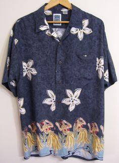 Ocean Current Original Hawaiian Shirt Hula Girls #stylefromachitownerseye | 100% Rayon  #OceanCurrent #Hawaiian