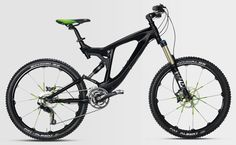 enduro' mountain bike to offer new technology and an improved frame, as well as green spoke accents.