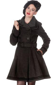 Hell Bunny Millie Women s Coat (Grey) - Hell Bunny. Want! Swing Coats 5902d75bc4