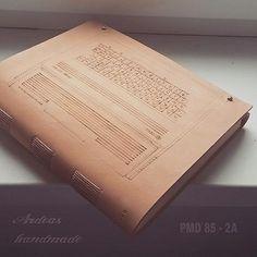 kožený zápisník pre agnicoli / PMD 85 - 2A / leather journal / handmade / Bookbinding / http://www.ardeas.sk/