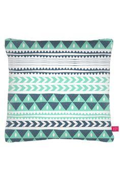 Mint pattern pillow