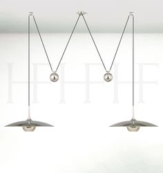 ONOS 55 D Adjustable Pendant Lamp, double pull Hector Finch