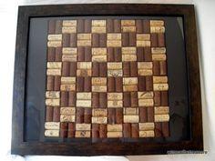 Chess cork art
